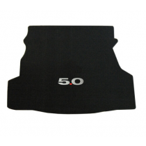 2010-2014 Ford Mustang Coupe Lloyd Trunk Mat Black with 5.0 Embroidery Logo
