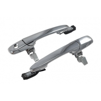 2005-2014 Ford Mustang GT V6 Chrome Exterior Outside Complete Door Handles Pair