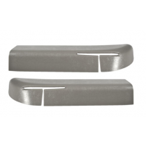 1990-1993 Mustang Convertible Seat Safety Belt Feed Feeder Bezels (Pair, Grey)