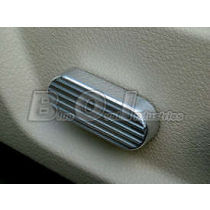 2005-2009 Ford Mustang or Shelby Grooved Chrome Seat Side Adjustment Knob Cover
