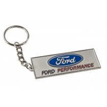 "Ford Performance 3D Red Blue & Silver Metal 2.5"" Keychain Key Ring Fob"