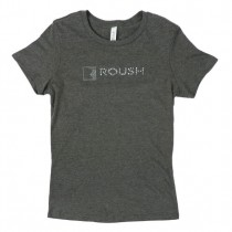 Women's Roush Performance Bling Rhinestone Logo Tee Shirt T-Shirt Gray