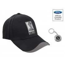 2015-2017 Ford Mustang Shelby GT350 Cobra Hat & Metal Keychain Ring