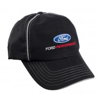 Ford Performance Oval Logo Black & Silver Adjustable Hat Cap