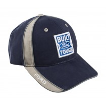 Built Ford Tough Blue & Tan Adjustable Baseball Hat Cap