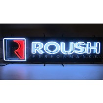 "Roush Performance Logo 48"" x 14"" Red Black & White Neon Light Up Sign"