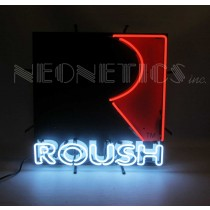 "Roush Performance R Logo 24"" x 24"" Red Black & White Neon Light Up Sign"
