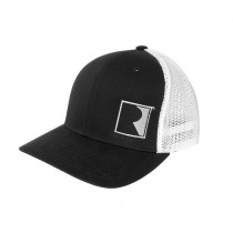 Roush Performance R Logo Black White Gray Flexfit Hat Cap