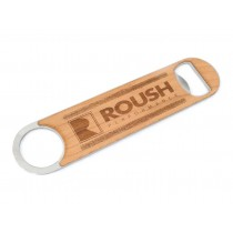 Roush Performance Stainless Steel Bottle Opener w/ Engraved Wood Accents