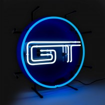 "Ford Mustang ""GT"" Logo 17"" x 17"" Blue & White Neon Light Up Sign"