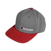 Roush Ford Mustang F150 Embroidered Flexfit Grey & Red Hat Cap Small Medium