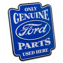 Only Genuine Ford Parts Used Here Oval Logo Pub Garage Man Cave Wood Wall Sign