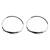 """1993 Ford Mustang 68"""" Parking E-Brake Cables for Drum Brakes - Set of 2"""