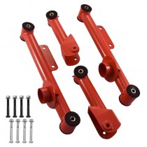 1979-2004 Mustang Rear Upper & Lower Control Arms - Red