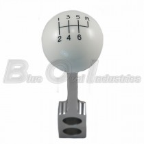 2008 Genuine Ford Shelby GT500KR Chrome Shifter Handle w/ White Shift Knob