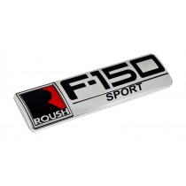 Ford F-150 Sport Roush Logo Chrome Black & Red Fender Trunk Emblem Badge 8""