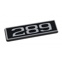 289 Ford Mustang Black Chrome Plated Engine Hood Scoop Emblem