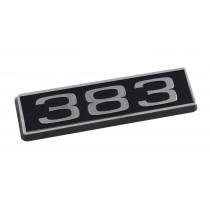 383 Ford Mustang Black Chrome Plated Engine Hood Scoop Emblem
