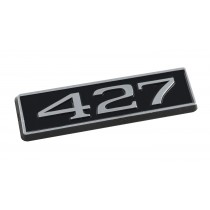 427 Ford Mustang Black Chrome Plated Engine Hood Scoop Emblem