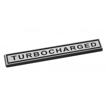 "Mustang Turbocharged Chrome Bar 4"" Emblem"