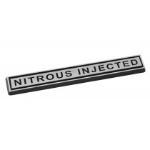 "Mustang Nitrous Injected Chrome Bar 4"" Emblem"