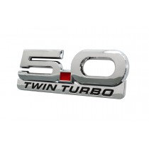 "2015-2021 Mustang 5.0 Twin Turbo 5.25"" Fender Emblem w/ Accent Badge 2pc"