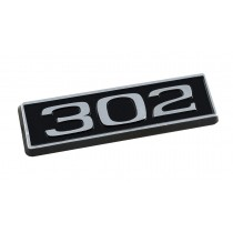 302 Ford Mustang Black Chrome Plated Engine Hood Scoop Emblem