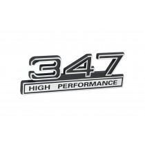 347 High Performance Black & Chrome Emblem