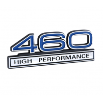 Ford Mustang Blue & Chrome 460 High Performance 3D Stick On Embossed Emblem