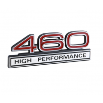 """Ford Mustang, Truck 4"""" x 1.5"""" Red & Chrome 460 High Performance Fender Emblem"""