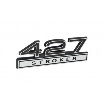 427 Stroker Black & Chrome Emblem