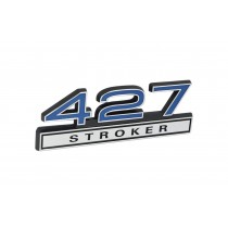 427 Stroker Blue & Chrome Emblem
