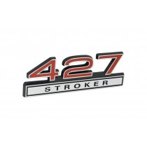 427 Stroker Red & Chrome Emblem