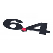 Ford Truck Black 6.4 6.4L Liter Fender Emblem with Red Decimal Point
