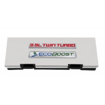 2010-2014 Ford F150 Stainless Fuse Box Cover w 3.5L Twin Turbo & Ecoboost Emblem