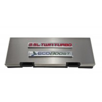 2010-2014 Ford F150 Brushed Engine Fuse Box Cover 3.5 Twin Turbo Ecoboost Emblem