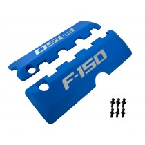 2011-2017 Ford F-150 5.0 M-6067-F150BL Blue Engine Coil Covers Pair w/ Ball Studs