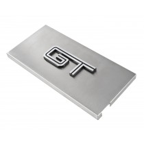 2005-2009 Ford Mustang Brushed Satin Stainless Engine Fuse Box Cover w GT Emblem