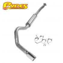 """2011-2020 Ford F150 3.5L Turbo PYPES 4"""" Cat Back Exhaust System Kit w/ 5"""" Tip"""