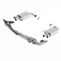 2015-2017 Mustang GT 5.0 FRPP Borla Touring Axle Back Exhaust w/ GT350 Quad Tips & Lower Rear Valence