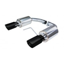 2015-2016 Mustang 3.7 V6 Pypes Street Pro Touring Axle-Back Exhaust System w/ Black Tips