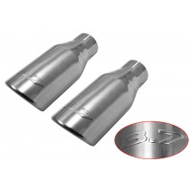 "2011-2014 Mustang 3.7 Embossed 10"" Polished Stainless Exhaust Tips Roush 421145"
