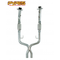 2005-2010 Mustang GT PYPES XFM26E X-Pipe w/ High Flow Cats Catalytic Converters
