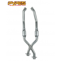 1986-1995 Mustang 5.0 LX GT XFM30E X-Pipe w/ High Flow Cats Catalytic Converters