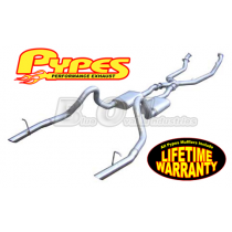 """1994-1995 Mustang GT 5.0L 2.5"""" T-409 SS Header-Back Exhaust System w/ X-Pipe """"The Beast"""""""