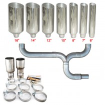 Pypes Diesel Truck Dual Stacks & Y-Pipe Exhaust Kit