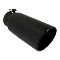 "Pypes Diesel Truck 3.5"" In 4.5"" Out & 12"" Long Black Exhaust Tip"