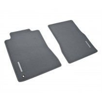 2005-2009 Genuine Ford Mustang Gray Front Floor Mats w/ Metal Emblem