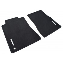 2005-2009 Genuine Ford Mustang Charcoal Black Front Floor Mats w/ Silver Running Horse