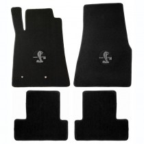 2007-2010 Shelby Mustang 4pc Floor Mat Set GT500 Circle Logo
